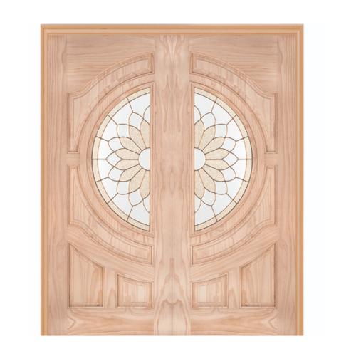 WINDOOR ประตู+กระจก  Com6 สนNz ขนาด 90x200ซม. SUN FLOWER