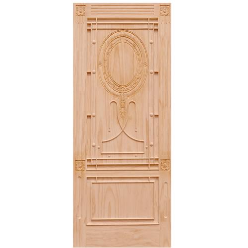 WINDOOR ประตูสลักลาย สนNz  ขนาด 90x200 cm. LA 222