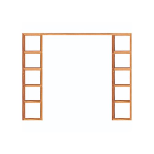 WINDOOR วงกบประตู  เต็งแดง ขนาด160x200ซม. 2x4นิ้ว COM 10 สีน้ำตาล