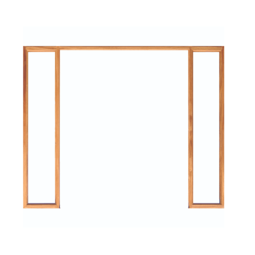 WINDOOR วงกบประตูCom 7 เต็งแดง  ขนาด 140x200 ซม. สีน้ำตาลเข้ม