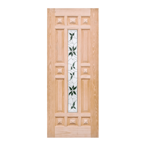 WINDOOR ประตู+กระจก สนนิวซีแลนด์ ขนาด 80x200ซม. WD-129