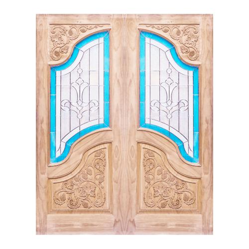WINDOOR ประตู+กระจกสนนิวซีแลนด์ขนาด 90x200ซม. MD-333