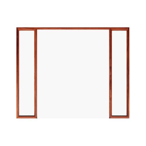 WINDOOR วงกบประตู Com 7 ไม้แดง ขนาด 140x200 ซม. 2x4 นิ้ว