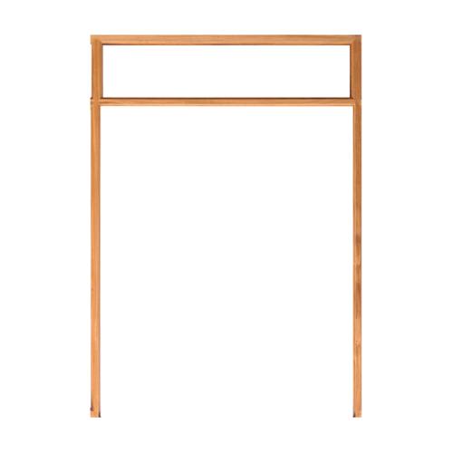 WINDOOR วงกบประตู Com 14 ไม้แดง ขนาด 180x200 ซม.  2x4 นิ้ว