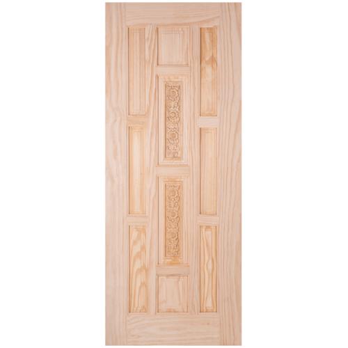 WINDOOR ประตูสลักลาย สัก  ขนาด 80x200 ซม. L120