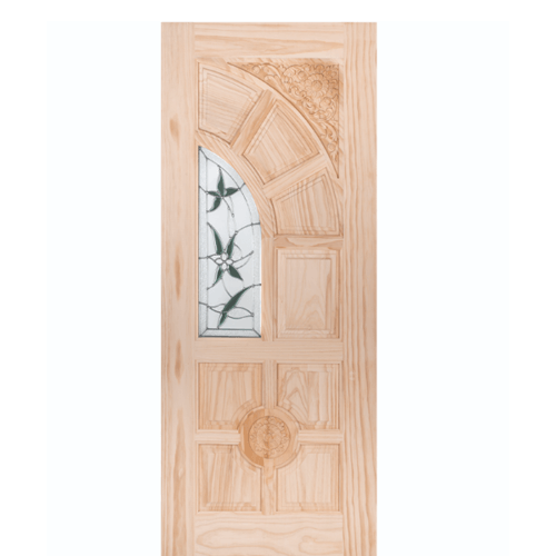 WINDOOR ประตู+กระจก สนNz ขนาด 90x200ซม. ชัยพฤกษ์ สีเหลือง