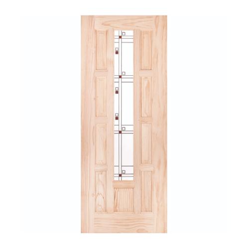 WINDOOR ประตู+กระจก สนนิวซีแลนด์  ขนาด 100x200ซม. S.PRICE 01