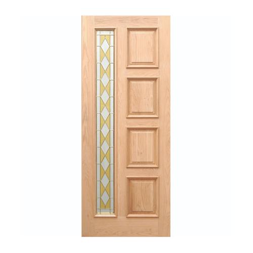 WINDOOR ประตู+กระจก  สนNz ขนาด 90x200 ซม. MD-666