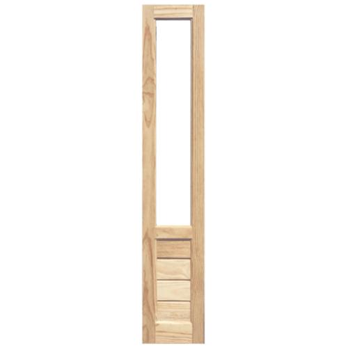 WINDOOR ประตู+กระจก สนNz 40x200 S/L 111 สีเหลือง