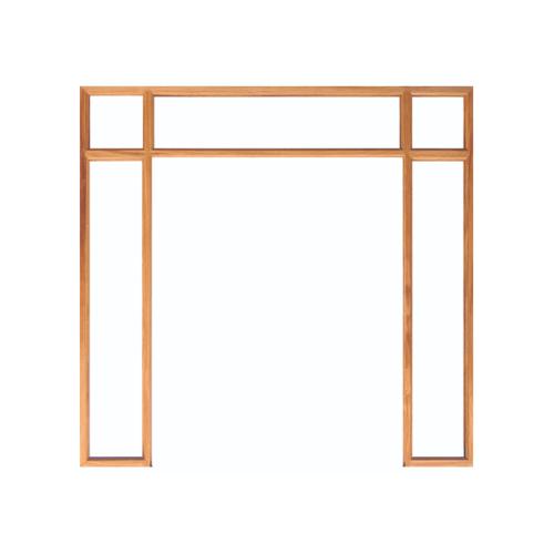 WINDOOR วงกบประตู เต็งแดง ขนาด 160x200 ซม. 2นิ้ว x 4นิ้ว COM 8
