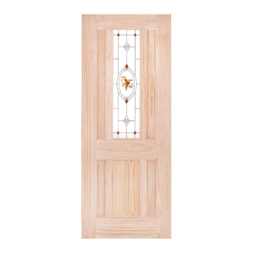 WINDOOR ประตู+กระจกไม้สนนิวซีแลนด์  ขนาด 90x200 cm. BURRA สีเหลือง