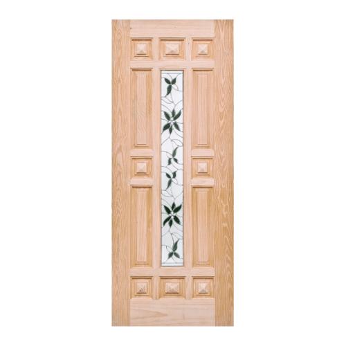 WINDOOR ประตู+กระจก สนนิวซีแลนด์ ขนาด100x200 ซม. WD-129