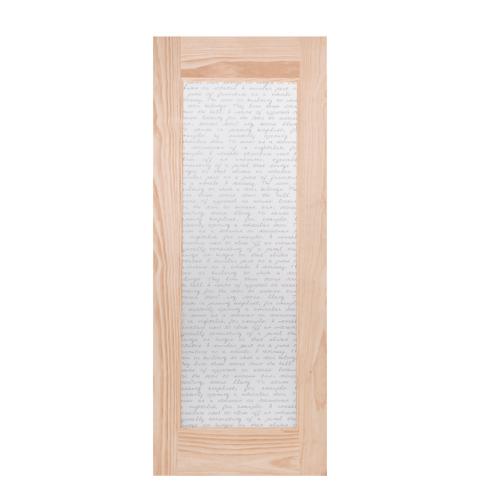 WINDOOR ประตู+กระจก S.PRICE 30 สนNz 80x200 S.PRICE 30 สีเหลือง
