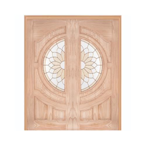 WINDOOR ประตู+กระจก  Com6 สนNz ขนาด 100x200ซม. SUN FLOWER สีเหลือง