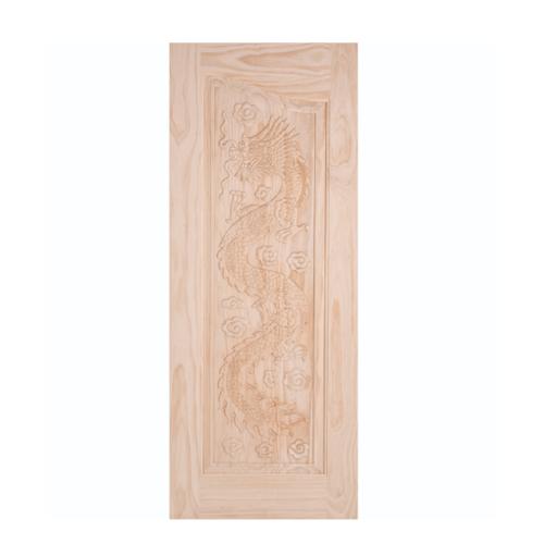 WINDOOR ประตูสลักลายไม้สนนิวซีแลนด์ขนาด 100x200ซม. LA 444 สีเหลือง