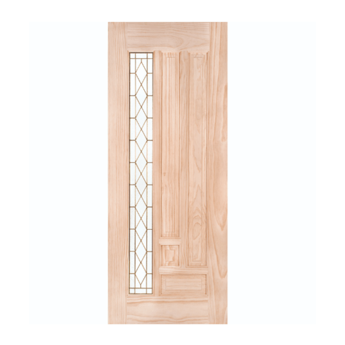 WINDOOR ประตู+กระจก พีระมิด สนนิวซีแลนด์  ขนาด 80x200 ซม. สีเหลือง
