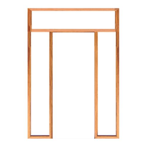 WINDOOR วงกบประตู เต็งแดง ขนาด 80x200ซม. 2x4 นิ้ว COM 5 สีน้ำตาล