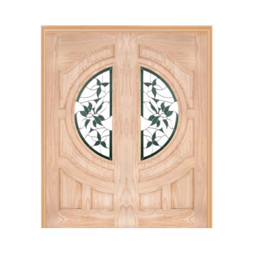 WINDOOR ประตู+กระจก  Com6 สนNz ขนาด 100x200ซม. GLARING GREEN
