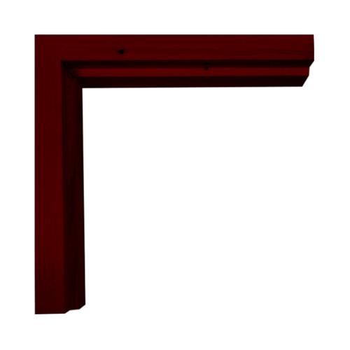 WINDOOR วงกบประตูไม้เรดวูด ขนาด 90x200ซม. ทำสี Com-1 สีแดง