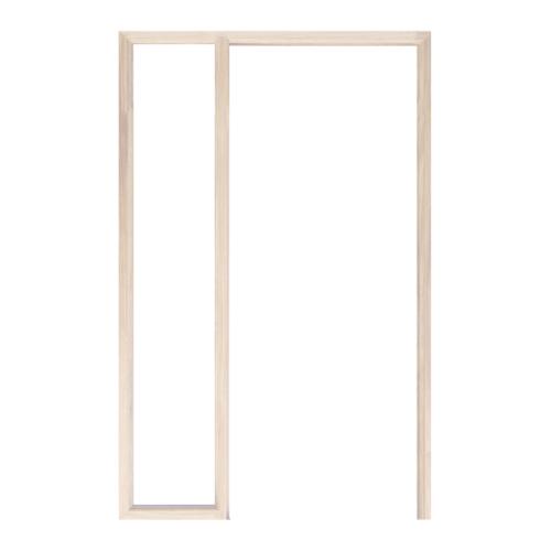 WINDOOR วงกบประตู เรดวูด ขนาด 80x200 ซม. Com 2 C2-8-20RW4  เรดวูด สีครีม