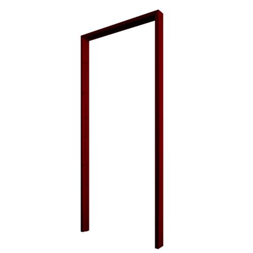 WINDOOR วงกบประตูไม้เรดวูด ขนาด 70x200ซม. ทำสี Com 1 สีแดง