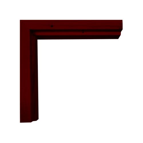 WINDOOR วงกบประตูไม้เรดวูด ขนาด 100x210 ซม. (ทำสี) COM-1