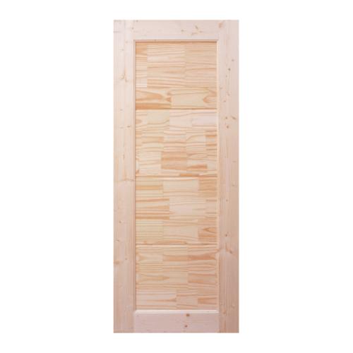 WINDOOR ประตูไม้สนNz บานทึบลวดลาย ขนาด 100x200ซม. CE-02