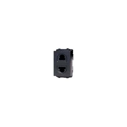 CHANG เต้ารับเดี่ยวเสียบขากลมแบน มีม่านนิรภัย PCH-902C-BK สีดำ(เม็ททัลลิค)-ช้าง PCH-902C-BK Y-Series Metallic สีดำ