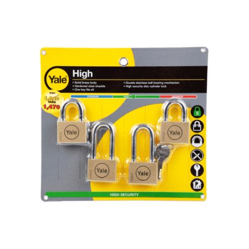 YALE กุญแจคล้องสายยู  ขนาด 45 มม.  Y117D/45/127x2-152x2/4