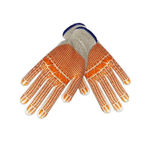 PARAGON ถุงมือพิมพ์พีวีซี กันลื่น DOTTED ORANGE สีส้ม