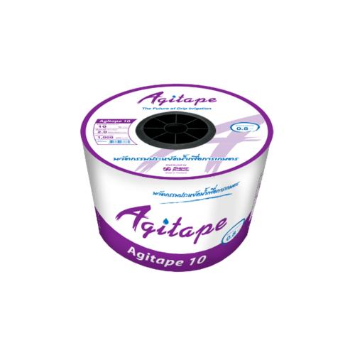Super Products Agi-Tape เทปกลม 10 ซม. 1,000ม.-2.0 ลิตร/ชม./หัวน้ำหยด Agi-Tape สีดำ
