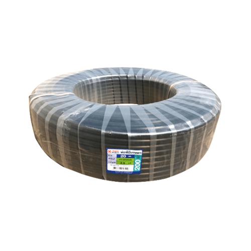 Super Products ท่อ LDPE แรงดัน2.5 ขนาด 20 มม.200 ม. คาดเขียว(1/2นิ้ว)