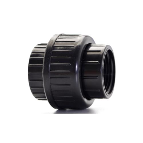Super Products ข้อต่อยูเนียน 2'' U-ABS  สีดำ