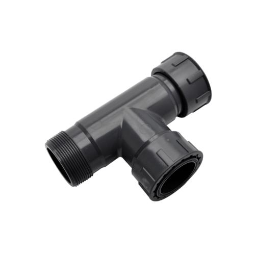 Super Products สามทางเกลียวนอก ในพร้อมโอริง 2นิ้ว PVC MANIFOLD 2''