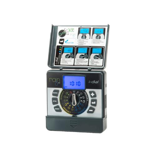 RAIN I-DIAL 4 ID ตัวควบคุม 4 สถานี 9 V. รุ่นใช้ในร่ม I-DIAL