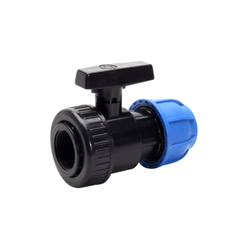 Super Products วาล์ ABS ข้อต่อแรงดันสูง 2 นิ้ว x 63 มม. (UCV) 339-122063 ดำ-ฟ้า