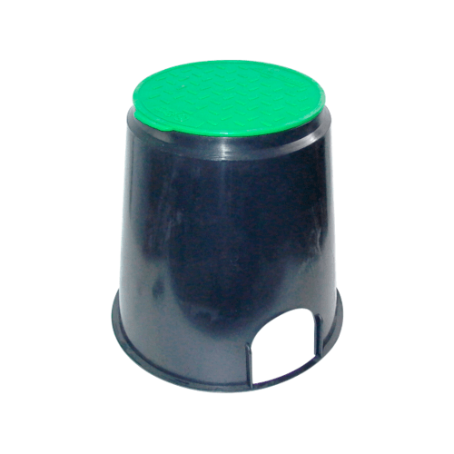 Super Products กล่องวาล์วไฟฟ้าทรงกลม 6 นิ้ว VB R ดำ