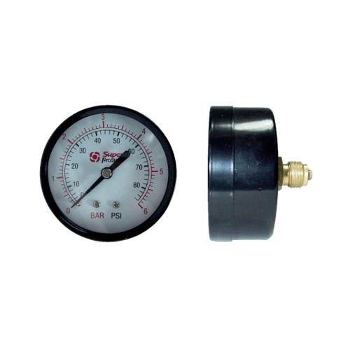 Super Products เกจวัดแรงดันแบบแห้งเกลียวหลัง 0-6 บาร์ 537-0006