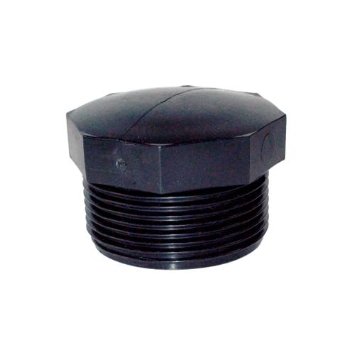 Super Products ปลั๊กอุดเกลียวนอก 1 นิ้ว (2 ตัว/แพ็ค) EPM ดำ