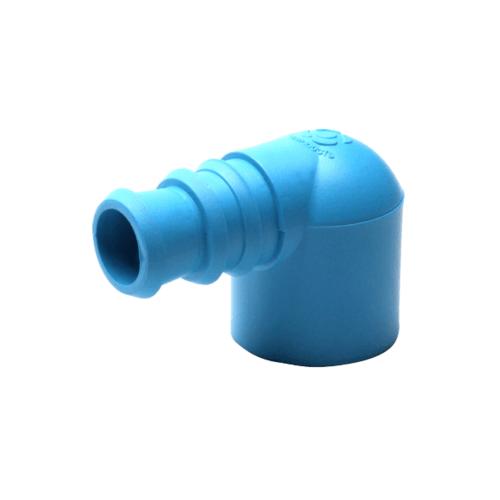 Super Products ข้องอพีวีซี-พีอี 1/2 นิ้ว x 20 มม. (5 ตัว / แพ็ค)  EM-PVC ฟ้า