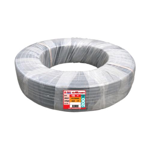Super Products ท่อ LDPE  แรงดัน4 ขนาด 16 มม.100 ม.คาดส้ม(3/8นิ้ว) สีดำ