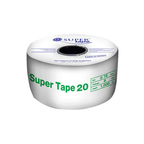 Super Products Super Tape ระยะหยด 20 ซม. 1,000 ม. 2.5 ลิตร/ชม. Super Tape 20