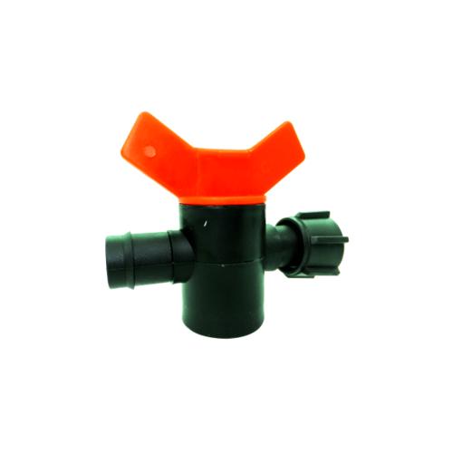 Super Products วาล์วแยกท่อพีวีซีขนาด 25 มม. สำหรับเทปน้ำพุ่ง 36 มม. (5 หน่วย/แพ็ค) DRI 25 แดง-ดำ
