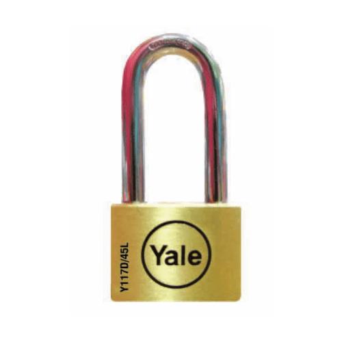YALE กุญแจคล้องสายยู แบบมล  ขนาด 45mm. ห่วงยาว