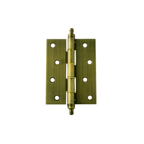 YALE บานพับประตู แกนเล็กหัวจุก มีหมุด HI-AB43C ทองเหลืองรมดำ