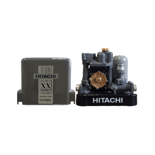 HITACHI  ปั๊มน้ำอัตโนมัติเเรงดันคงที่350W  WM-P350XX สีเทา