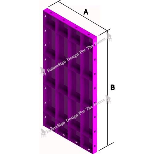 ตราช้าง แบบเหล็กเรียบขนาด 600x1500 mm. NONE