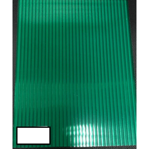 POLYTOP แผ่นโพลีคาร์บอเนต  ขนาด 2.1MX6MX10MM. GRADE A สีเขียว