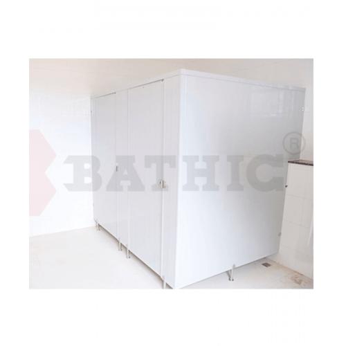 BATHIC ผนังห้องน้ำพีวีซี แผงพาร์ทิชั่น 10x200cm. สีเทา BATHIC PT สีเทา
