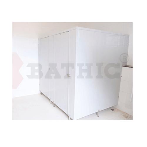 BATHIC ผนังห้องน้ำพีวีซี แผงพาร์ทิชั่น 70x200cm. สีเทา BATHIC PT สีเทา
